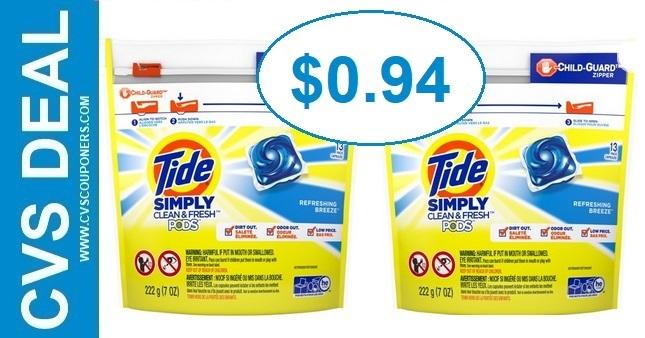 Tide Simply Pods CVS Deal 922-928