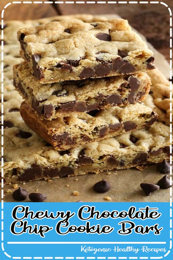Chewy Chocolate Chip Cookie Bars from afarmgirlsdabbles Chewy Chocolate Chip Cookie Bars