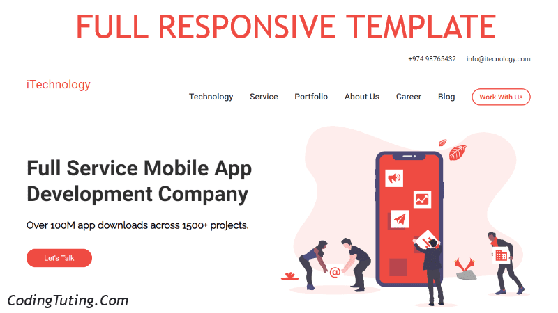 Responsive Website Template using HTML CSS