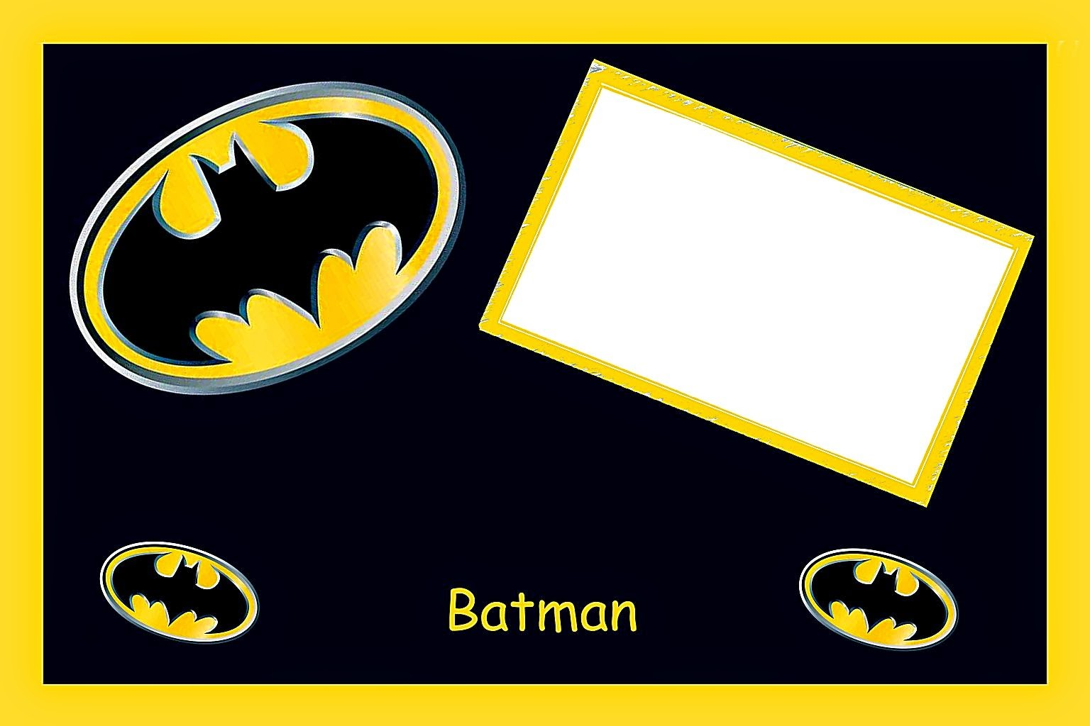 Batman Birthday Free Printable Invitations, Labels or Cards.