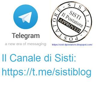 Il canale di Sisti Il postatore su Telegram