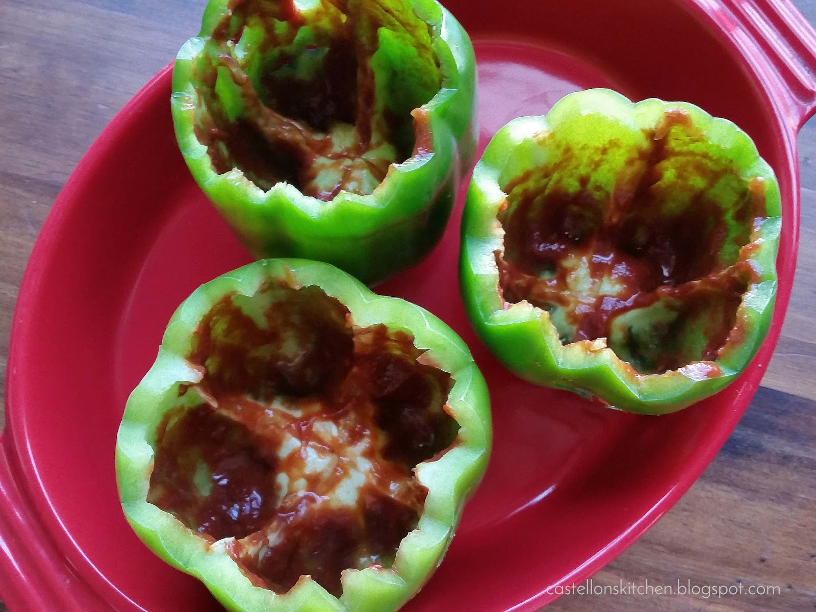 recipe: stove top stuffed peppers in tomato sauce [36]