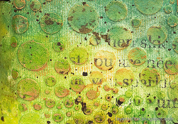 Layers of ink - In The Forest Wrapped Journal Tutorial by Anna-Karin Evaldsson. Forest textures.