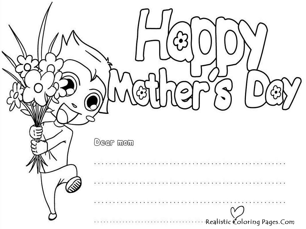 Mothers day 2013 greeting card realistic coloring pages happy mothers day coloring greeting cards m4hsunfo