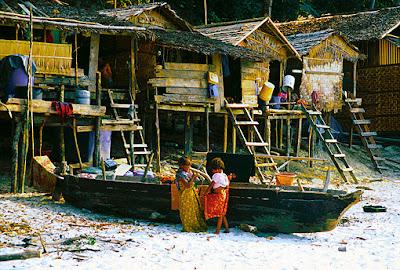 South Myanmar Island Life on the Beach and the Sea Gypsies