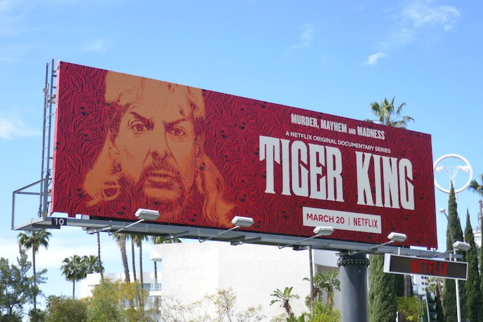 Tiger King Netflix docu series billboard