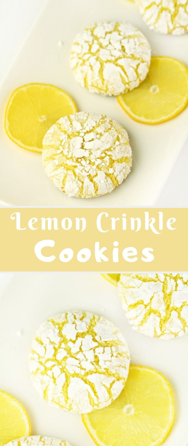 Lemon Crinkle Cookies #Lemon #Crinkle #Cookies Cookie Recipes Chocolate Chip, Cookie Recipes Easy, Cookie Recipes Christmas, Cookie Recipes Keto,