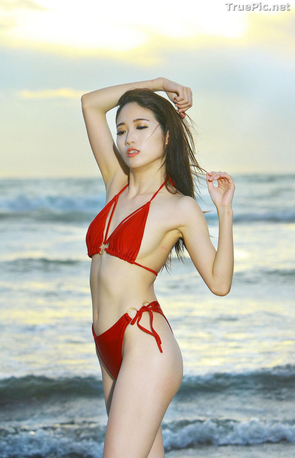 Image Taiwanese Model - Kuma - Beautiful Sexy Bikini Girl Under Sunset - TruePic.net - Picture-10