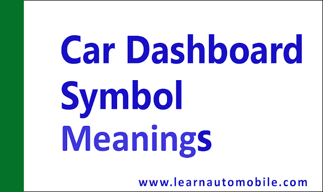 car dashboard symbol meanings in automobile