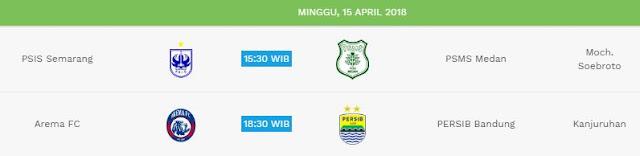 Jadwal Liga 1 Minggu 15 April 2018 - Siaran Langsung Indosiar