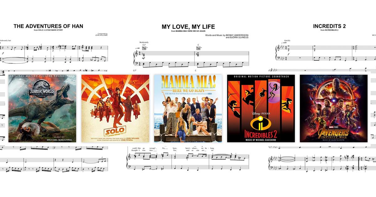 2018 Blockbuster Movie Music - Sheet Music Direct Blog