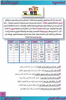 أقوى مذكرة لغة عربية للصف الثالث الابتدائى ترم اول 2021