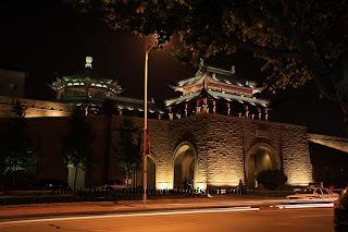 Wugong, Pan Pacific Hotel at night, Suzhou, China