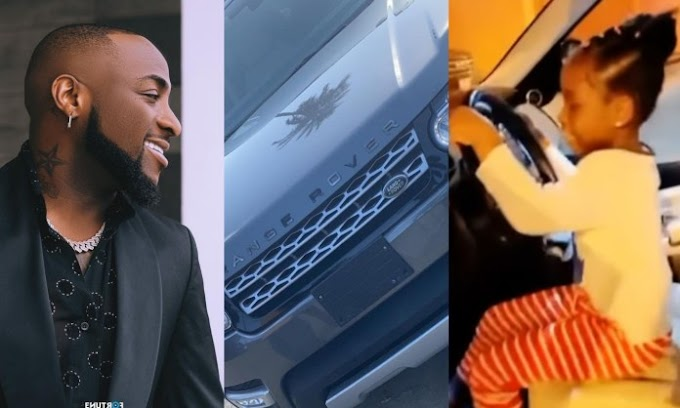 Viral Video: Davido Surprises His 6yrs Old Daughter Brand New Range Rover As Birthday Gift Causes Traffic Online