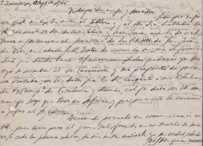 Carta manuscrita de José Juncosa Molins a Ángel Ribera, 1946