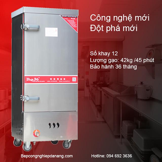 Tủ nấu cơm 12 khay gas tại Đà Nẵng