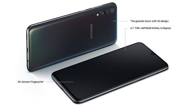 Spesifikasi Layar Samsung Galaxy A70