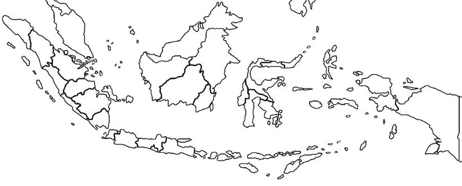 Peta Indonesia Untuk Digambar