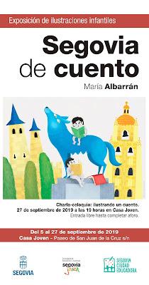 Cartel Segovia de Cuento - Maria Albarran Ilustracion