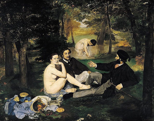 """""""Le déjeuner sur l'herbe"""", or, """"The Luncheon on the Grass"""" by Edouard Manet. Oil on canvas, 1863"""