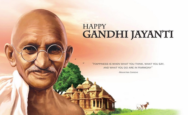 Gandhi Jayanti Messages & Quotes for WhatsApp