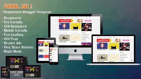 Viral Go N Responsive Blogger Template
