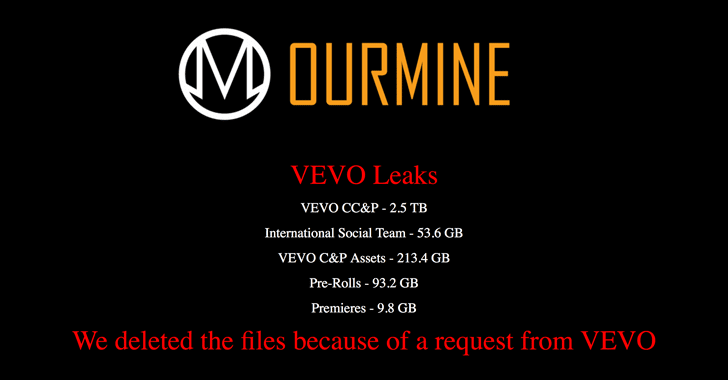 Vevo Music Video Service Hacked — 3.12TB of Internal Data Leaked