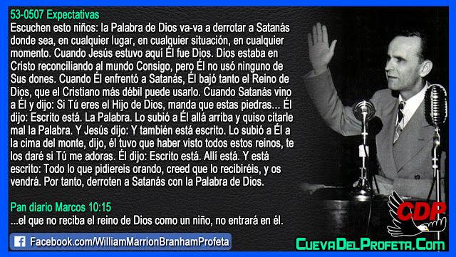 Por tanto derroten a Satanás con la Palabra de Dios - Citas William Branham Mensajes