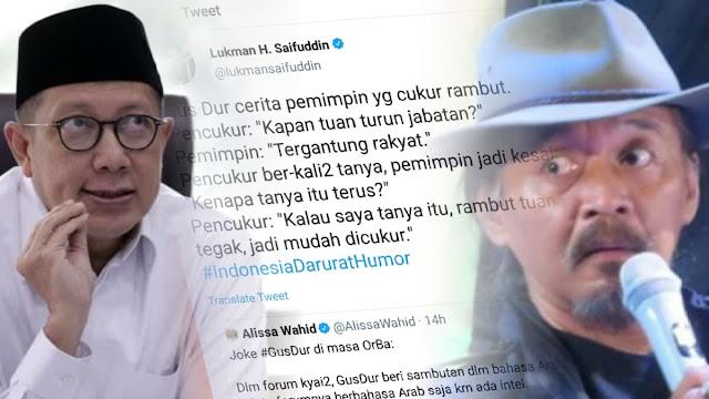 "Eks Menag Unggah Guyonan Gus Dur ""Kapan Tuan Turun Jabatan"", Sudjiwo Tedjo: Mau Diciduk?"