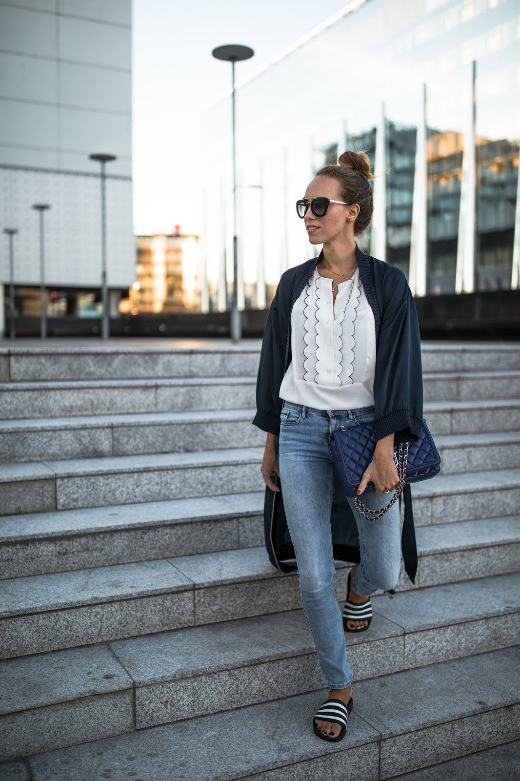 kimono summer outfit with jeans