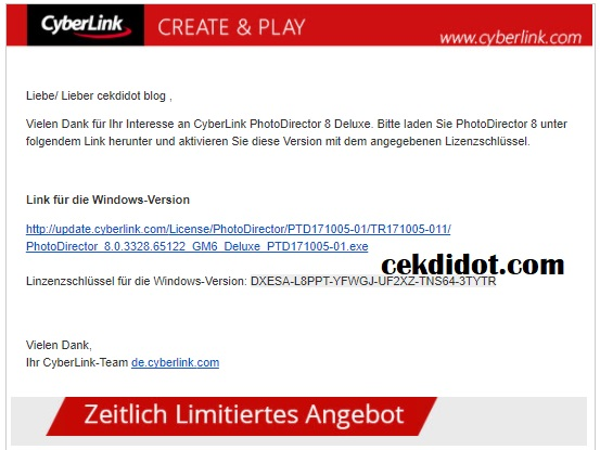 Download Cyberlink PhotoDirector Deluxe 8 Serial Key Full Version