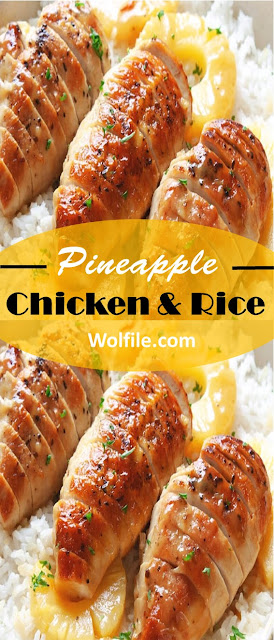 Pineapple Chicken and Rice #Chicken #Rice #Pineapple