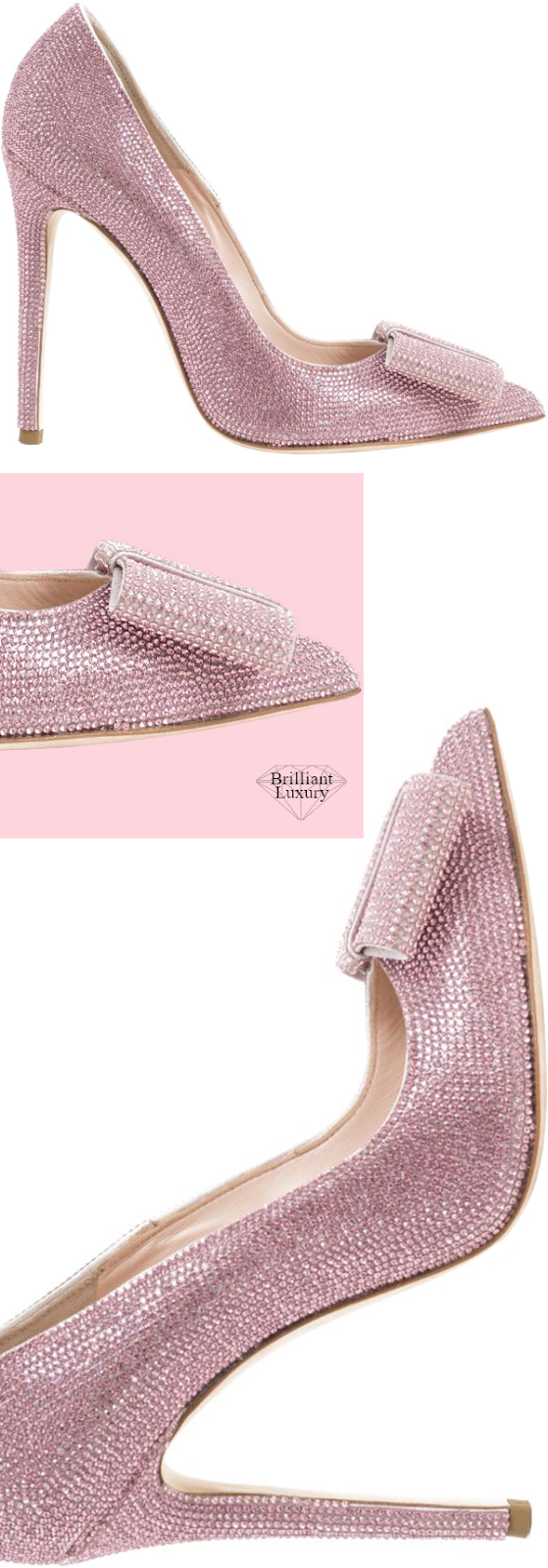 Brilliant-Luxury-Gedebe-Glittered-Pink-Strass-Bow-Pumps-shoes-accessories-2019