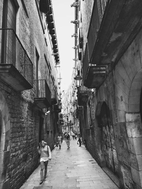 El Born bölgesinde arka sokaklar