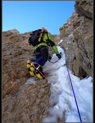 Escalando el corredor Noroeste de la Pala de Ip