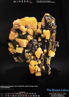 minerales, calendario, wulfenita, motramita