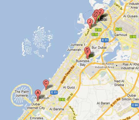 the palm dubai map