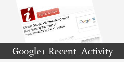 Widget Aktifitas Google+ (Google+ Activity Widget)