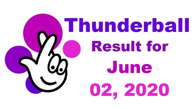 Thunderball Results for Tuesday, June 02, 2020