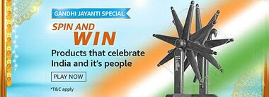 Amazon Gandhi Jayanti Special Spin and Win