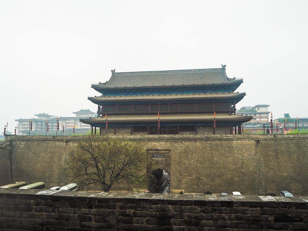 Gate towers on Xi'an City Walls in China
