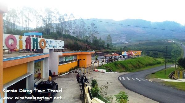 gerbang utama dqiano water park dieng