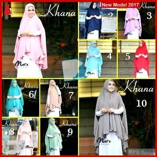 RYB101B Hijab Jilbab Cantik Khimar Murah Khana BMG Online Shop