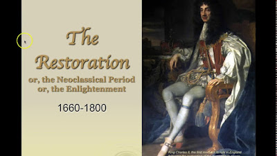 The Restoration period is particularly remarkable for comedy of manners and heroic plays