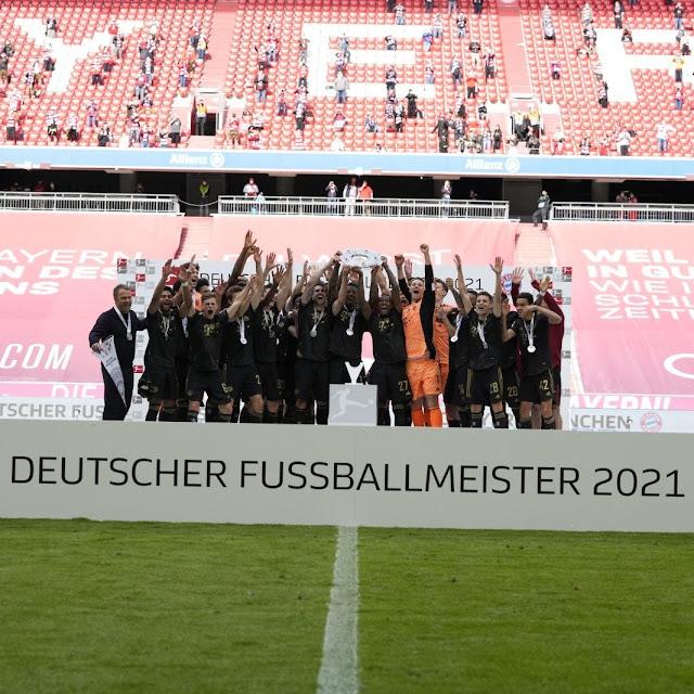 صور تتويج بايرن ميونخ بالدورى الألماني 2021
