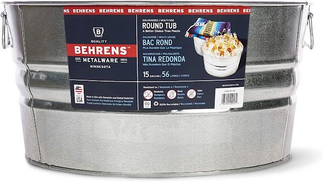 Behrens metalware galvanized tub