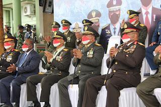 Secara Virtual, Pangdam XVII/Cenderawasih Ikuti Upacara HUT Ke-76 TNI