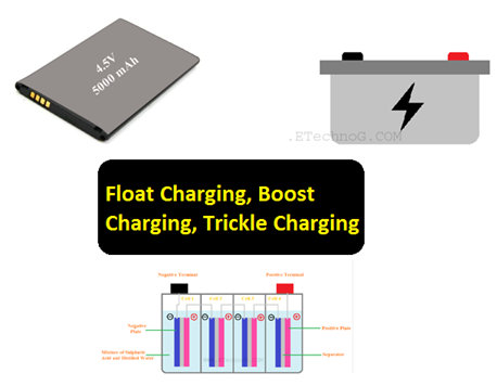 Float Charging, Boost Charging, Trickle Charging