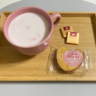 美酢,ザクロ,牛乳割り,源氏パイ,チョコレート