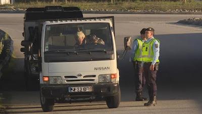 Fotografia da GNR em operação STOP